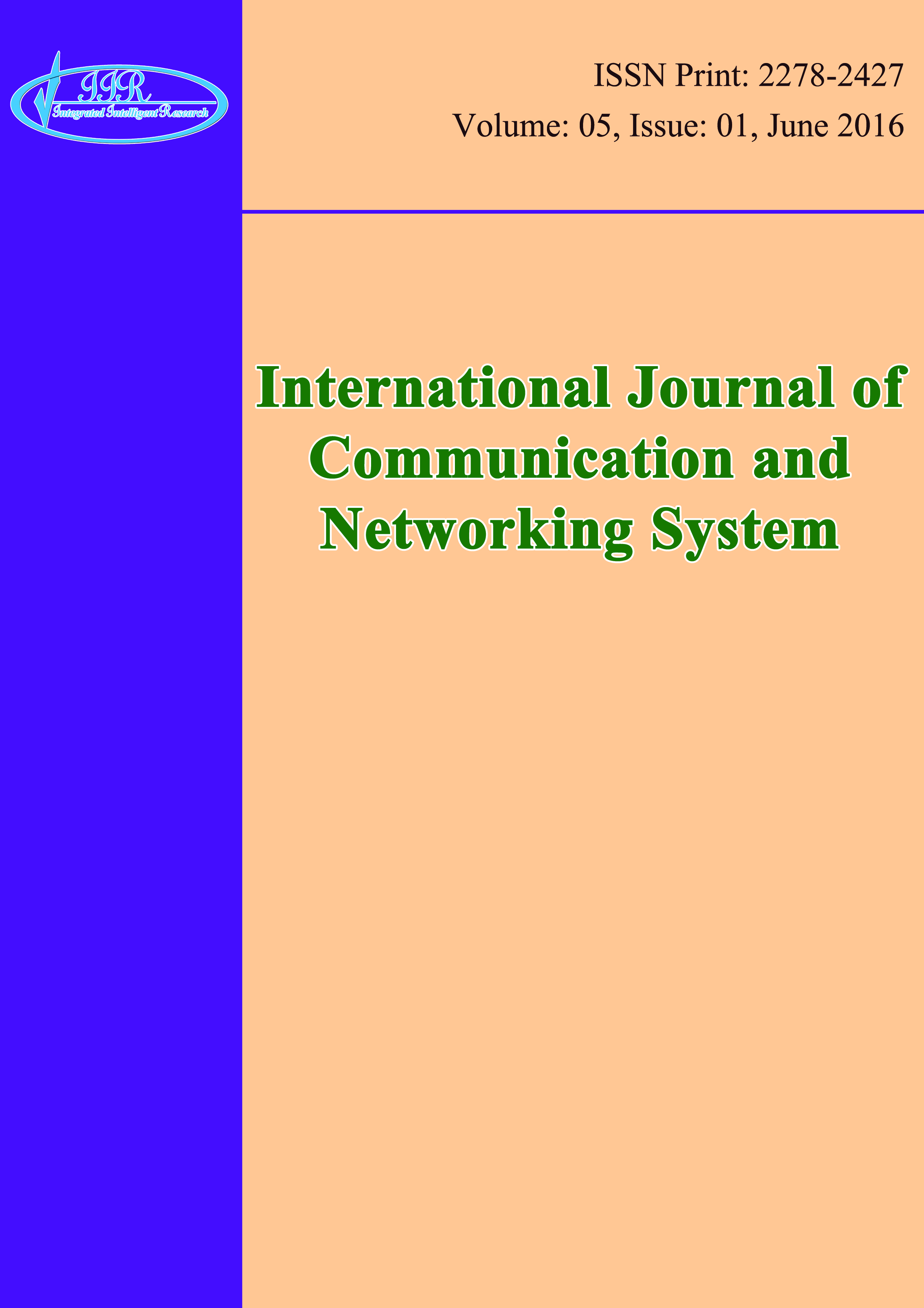International Journal of Communication and Networking System